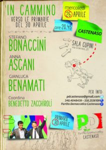 BONACCINI ASCANI BENAMATI verso il 30 Aprile @ Castenaso (Bo)