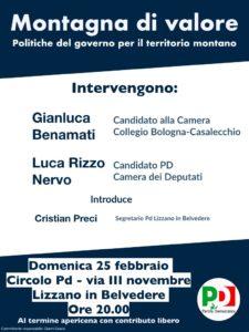 Politiche del governo per il territorio montano @ Circolo Pd   Lizzano In Belvedere   Emilia-Romagna   Italia